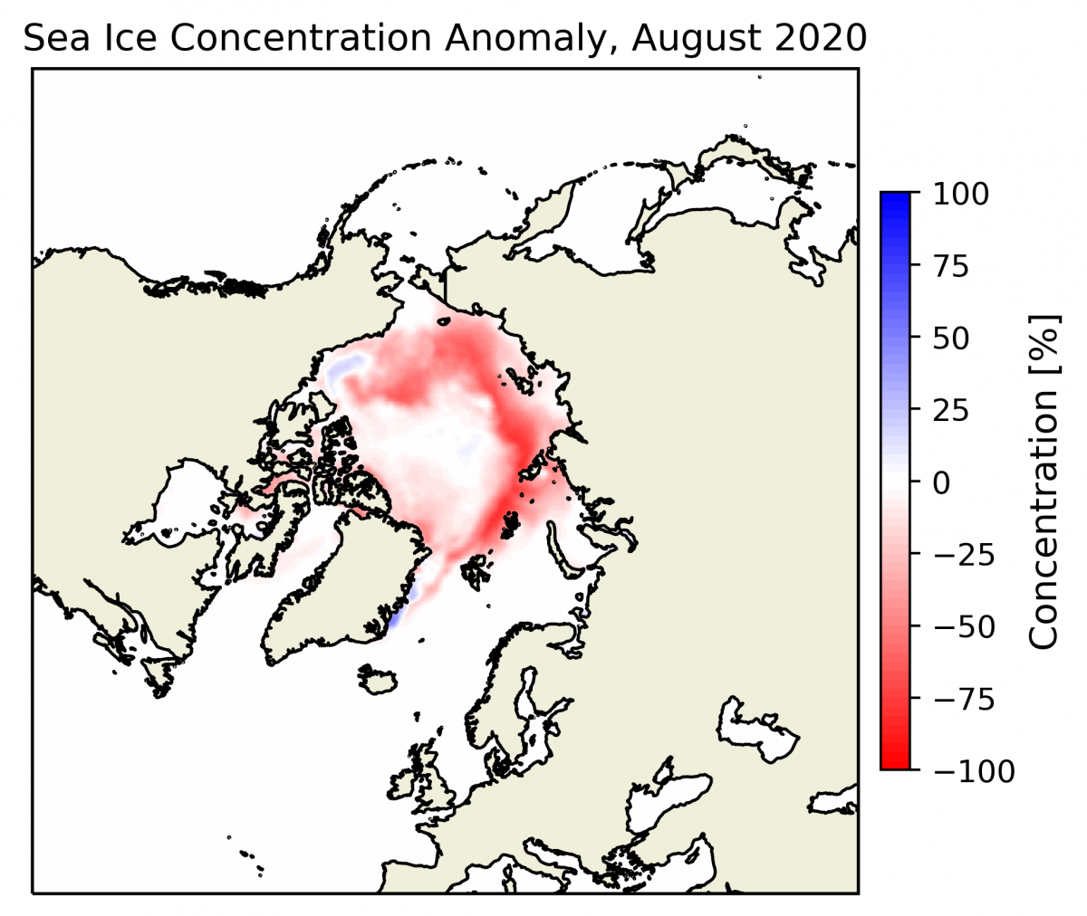 Arctic sea-ice anomaly